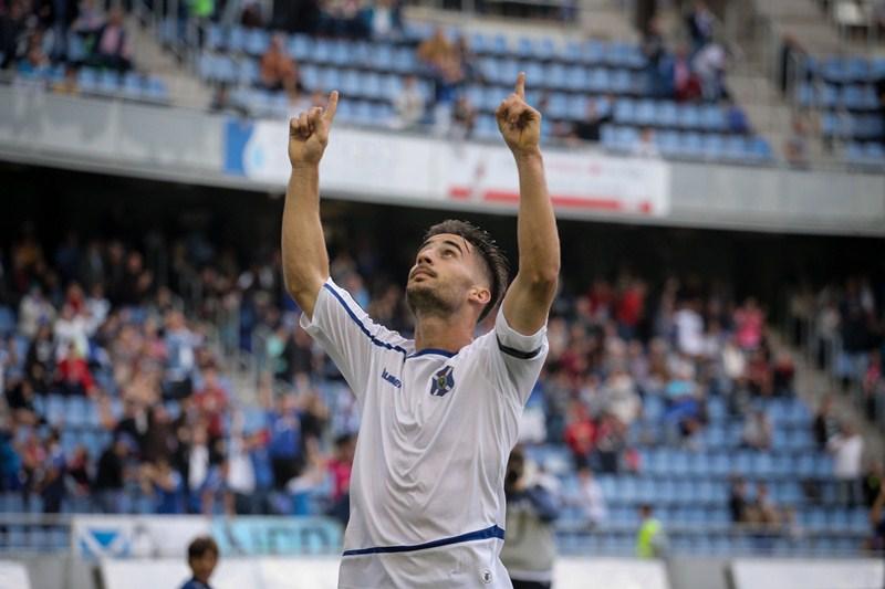 Pedro Machado celebra el empate ante el Girona. | ANDRÉS GUTIÉRREZ