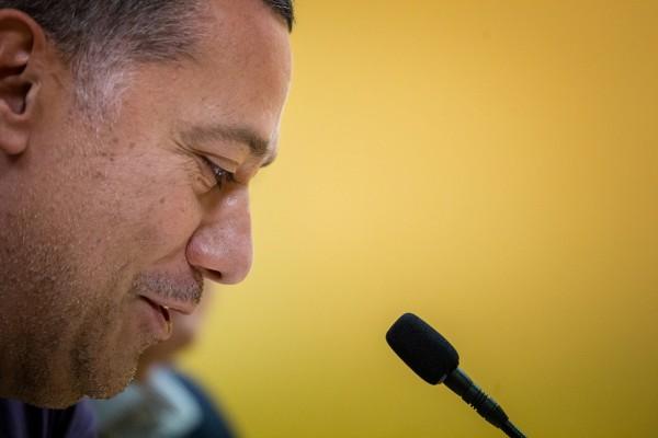 El técnico, durante la rueda de prensa| ANDRÉS GUTIÉRREZ