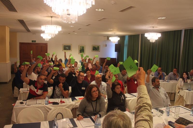 La Asamblea de la Lucha Canaria se celebró en el Hotel Maritim. | DA