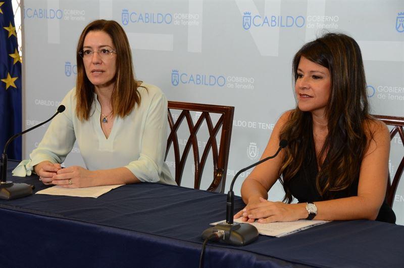 Amaya Conde y Delia Herrera durante la rueda de prensa./ CEDIDA