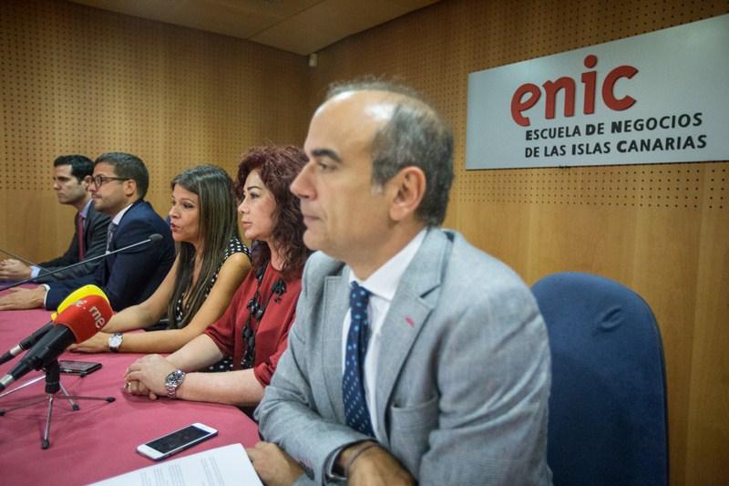 Imagen de la rueda de prensa ofrecida en la sede de la Cámara de Comercio. / ANDRÉS GUTIÉRREZ