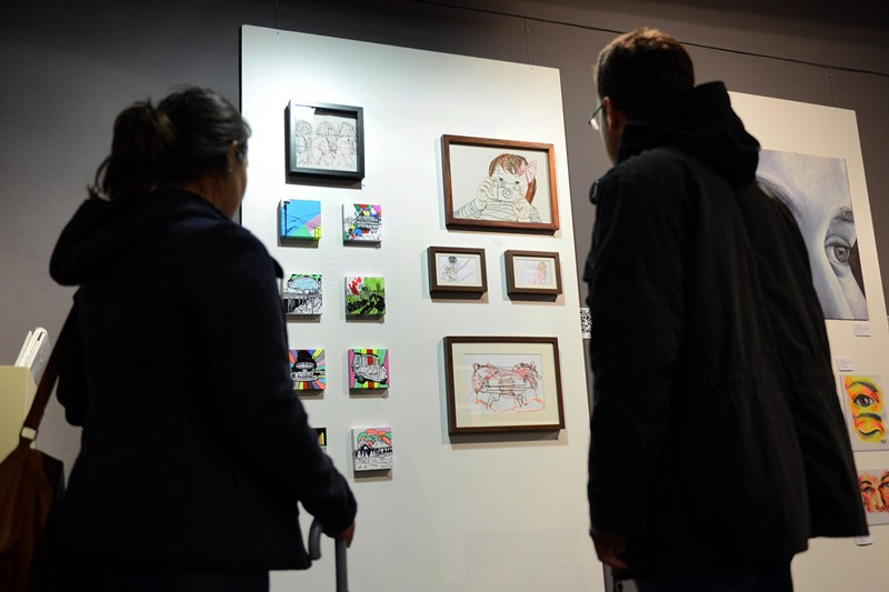 Parte de las obras en exposición de la pasada edición, también celebrada en La Laguna. / DA