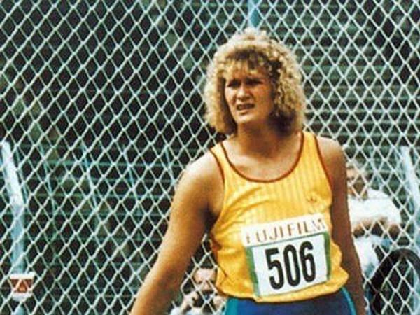 Gabriele Reinsch Prueba: Disco Registro: 76,80 metros Fecha: 9 julio 1988 Lugar: Neubrandenburg