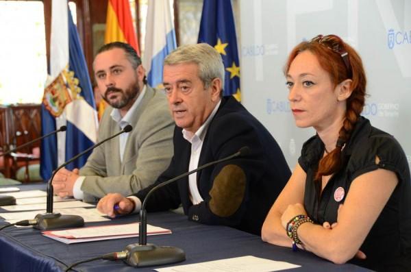José Gregorio Pérez, Aurelio Abreu e Inma Évora, ayer en la presentación del nuevo organismo. | DA