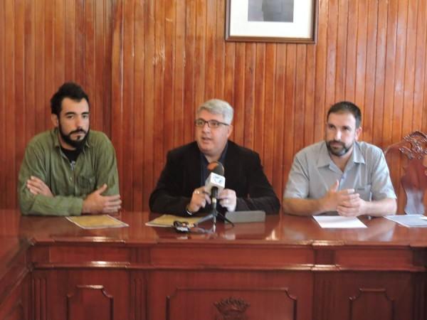 Pablo Sánchez, José Juan Lemes y Juan Martín, en rueda de prensa. | N. C.