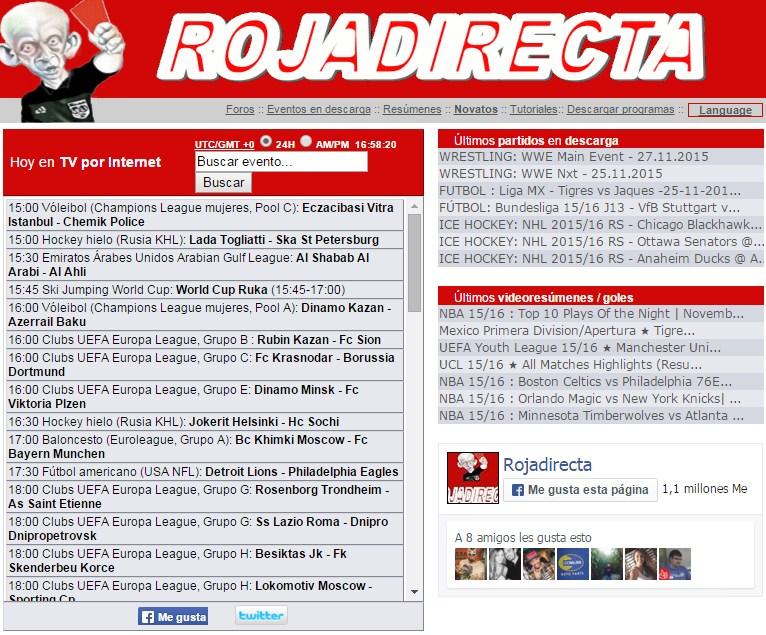 Rojadirecta.com. / DA