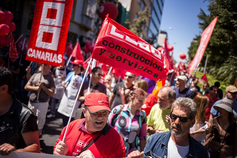 Detalle de una manifestación sindical. / DA