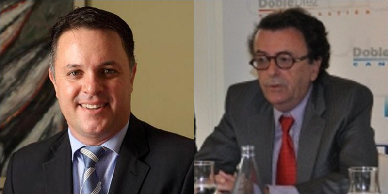 Santiago Negrín y Enrique Hernandis. / DA
