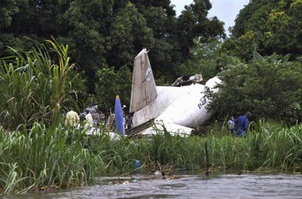 El avión estrellado en Yuba. | REUTERS