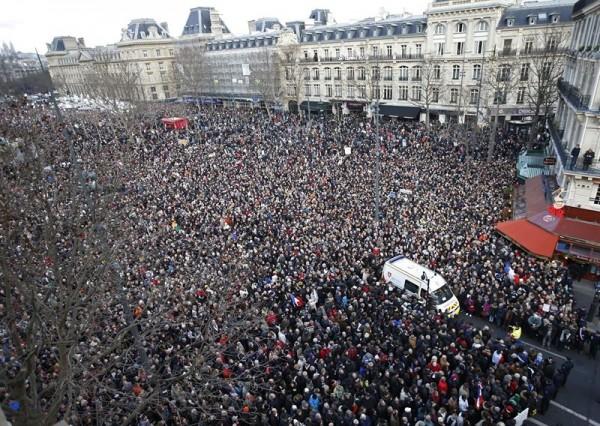 Concentración por los atentados en Charlie Hebdo. | EP