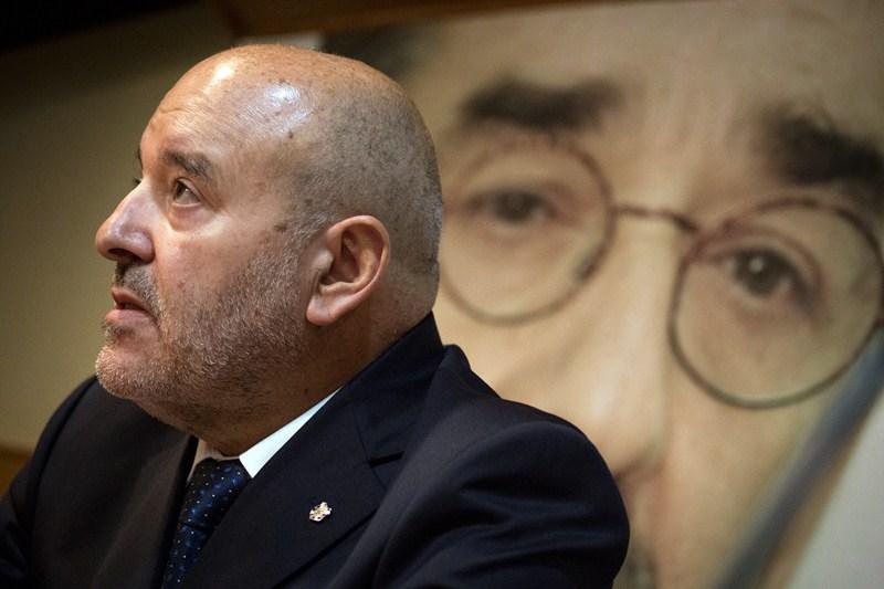 Miguel Concepción, ayer en el acto de presentación del homenaje a Javier Pérez. / A. G.