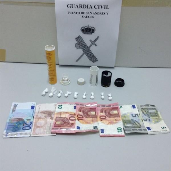Droga incautada en San  Andrés y Sauces. | CEDIDA