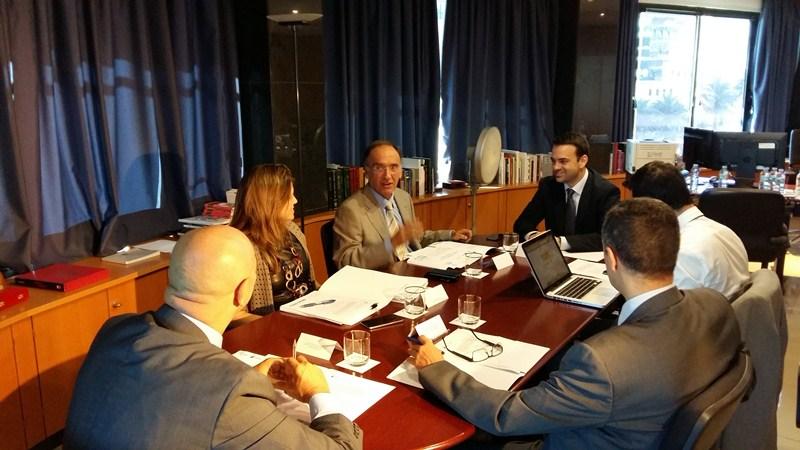 Imagen de la Comisión Mixta de Cooperación entre el Gobierno canario y el TSJC celebrada ayer. / DA