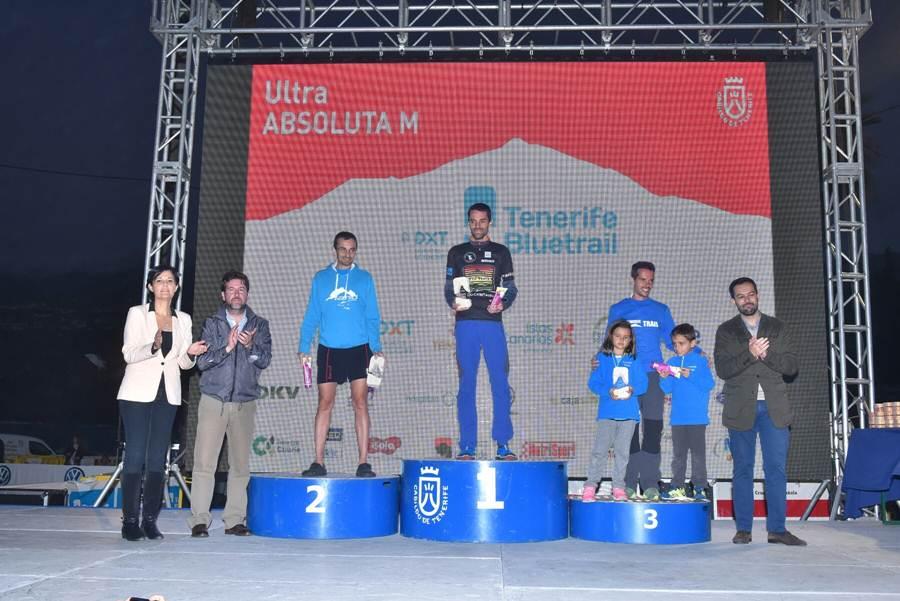podio masculino de la Ultra de la Tenerife Bluetrail 2015