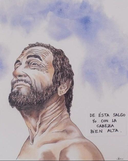 Autorretrato guanche de Luis Fierro./ DA