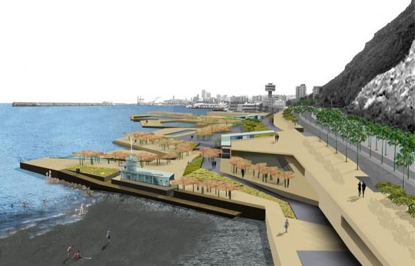 Proyecto para la playa de Valleseco. / DA