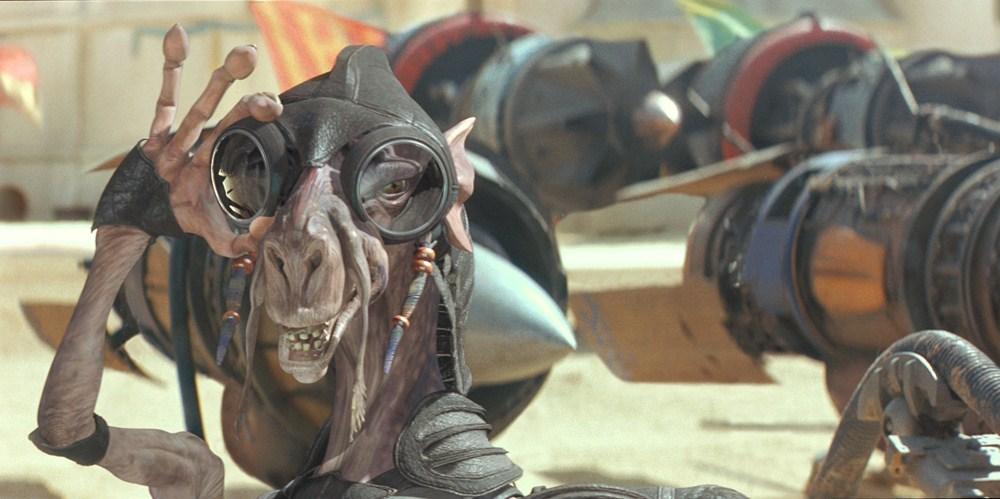 Sebulba, personaje creado por Miguel Ángel Fuertes en  'La amenaza fantasma' (1999).
