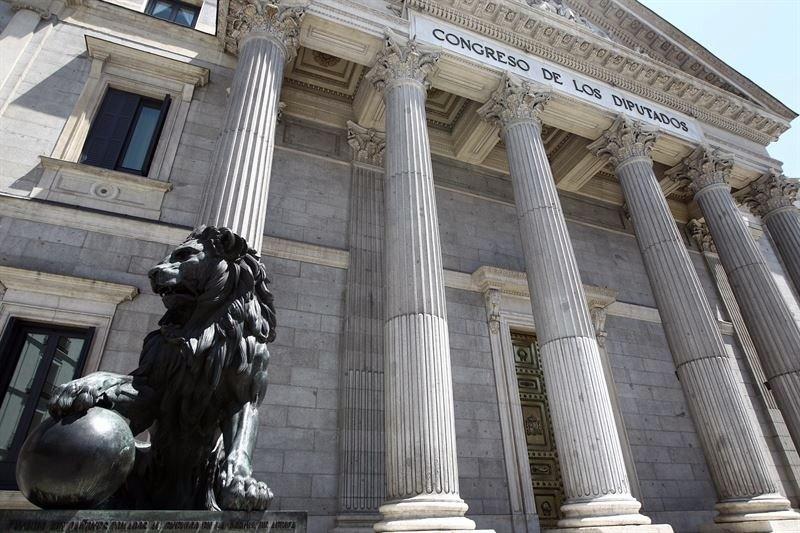 Uno de los leones que custodian la soberanía nacional. / EP