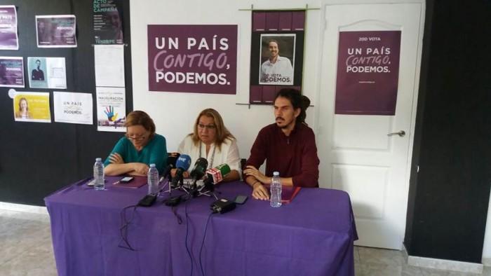 Concepción Moreno, María Pita y Alberto Rodríguez. | DA