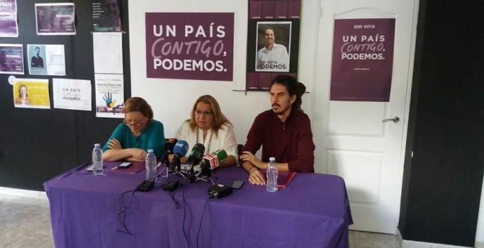 """Podemos critica la campaña """"rastrera"""" con sus candidatos"""