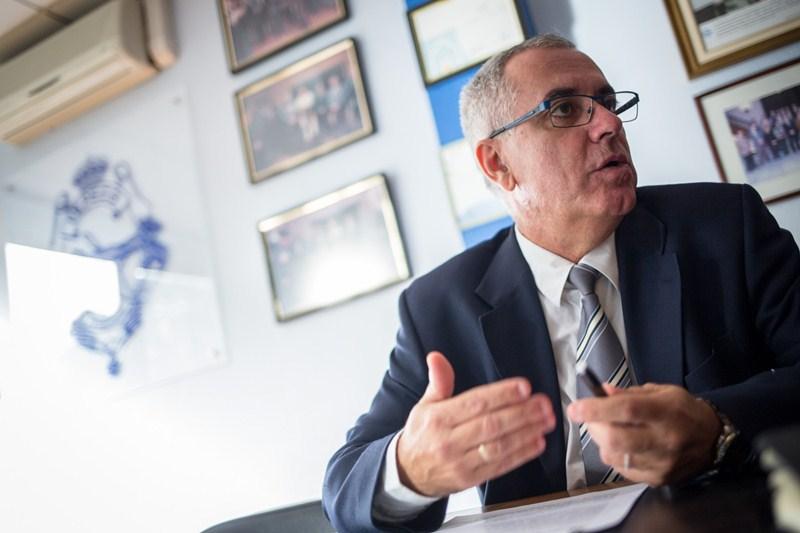 Óscar Izquierdo, Presidente de la Federación provincial de la Construcción (FEPECO). / ANDRÉS GUTIÉRREZ