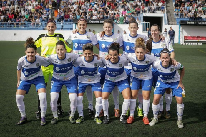El equipo tinerfeño sigue haciendo historia en la élite del fútbol femenino. | ANDRÉS GUTIÉRREZ
