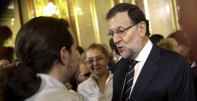 Rajoy e Iglesias llegan a las Islas en el mejor momento de su campaña