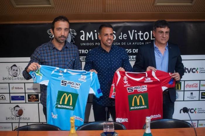 Juan Carlos Moreno, Víctor Añino Bermúdez, Vitolo, y José Heriberto González Rodríguez. | FRAN PALLERO