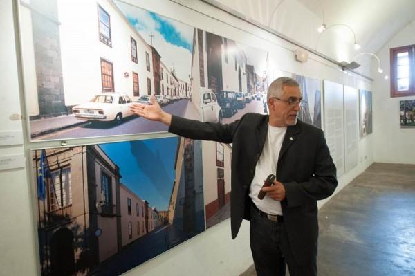Juan Manuel Castañeda, ayer en la exposición. | FRAN PALLERO