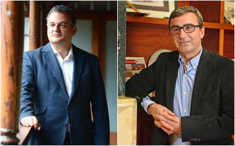 José Alberto Díaz (i) y Javier Abreu han mantenido una tensa relación desde el comienzo del mandato. / S. M.
