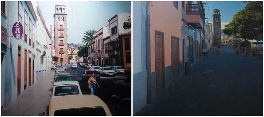 La plaza de la Concepción, en 1988 y en la actualidad. | CEDIDA