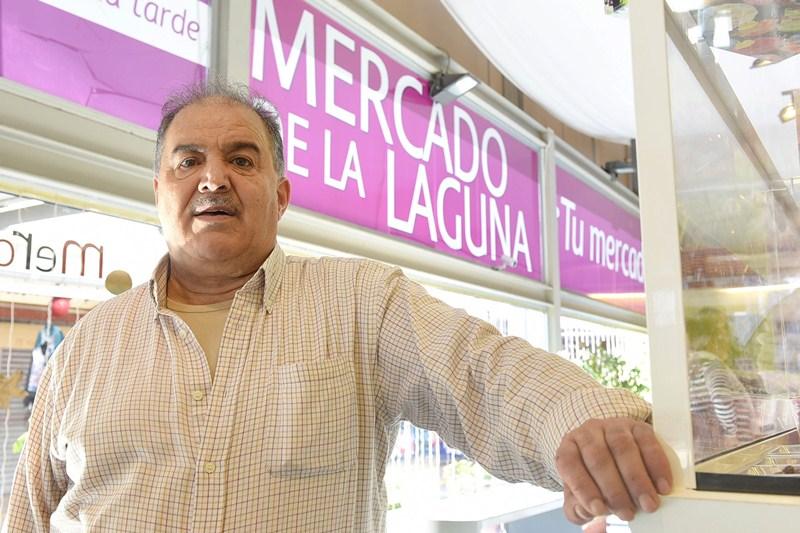 Benito Díaz. Presidente de la Asociación de Comerciantes del Mercado de La Laguna (Asocomel). / SERGIO MÉNDEZ