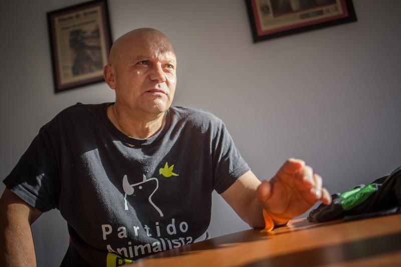 Francisco Hernández encabezó la lista del PACMA por la provincia. / A.G.