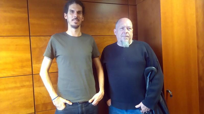 Alberto Rodríguez (izquierda) y Manuel González Mauricio, candidatos respectivos al Congreso y al Senado. / DA