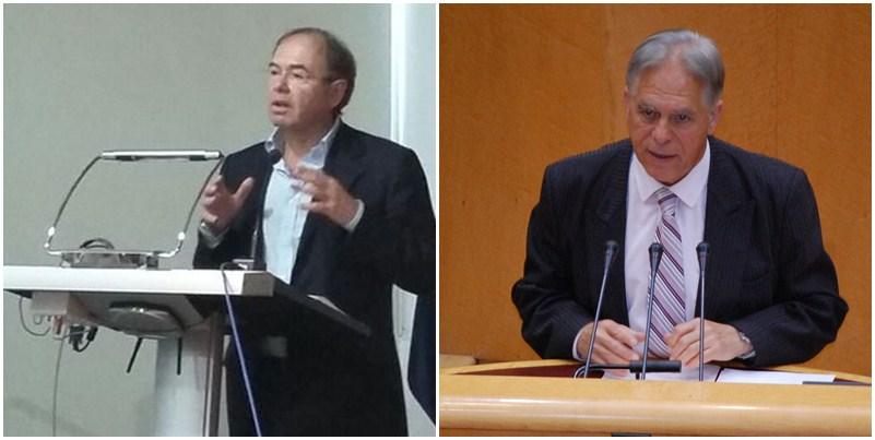 Pío García Escudero (PP), presidente del Senado, y  José Vicente González Bethencourt (PSOE). / DA