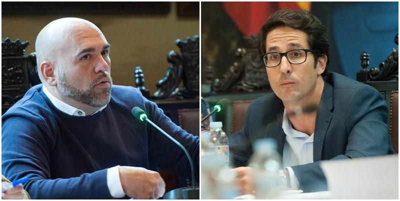 Marco González (PSOE) y Ángel Montañés (PP) protagonizaron una acalorada discusión. / FRAN PALLERO