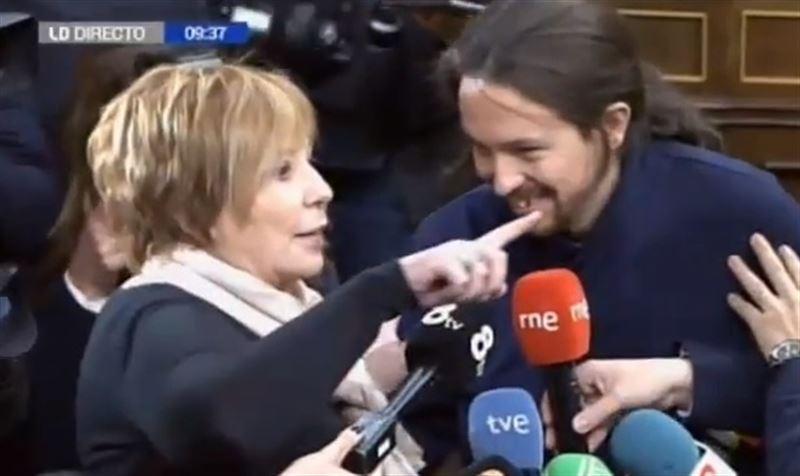 Pablo Iglesias y Celia Villalobos