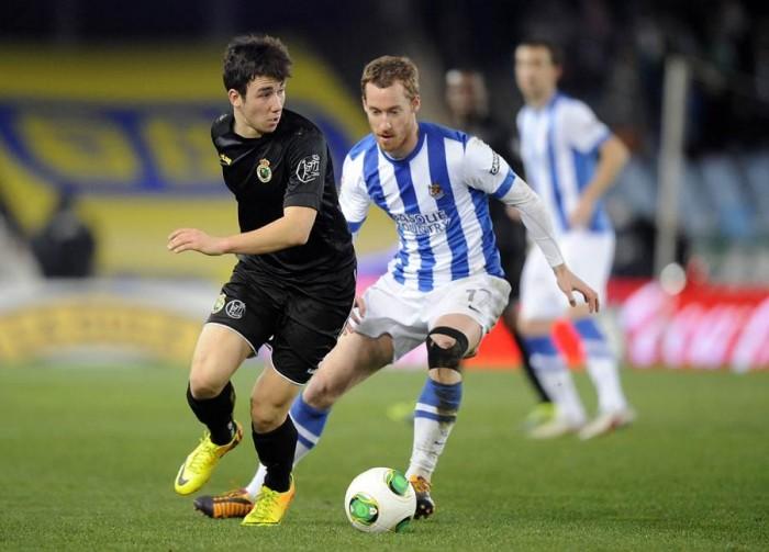 El futbolista, en su etapa como jugador del Racing de Santander, equipo con el que compitió en Segunda y Segunda División B. | DA
