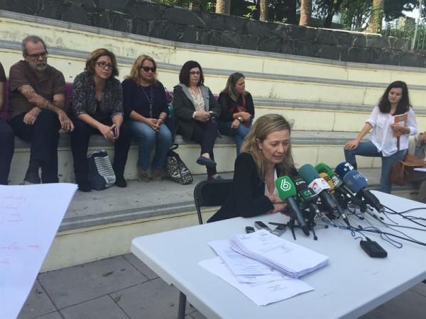 Victoria Rossel durante una rueda de prensa. | EP
