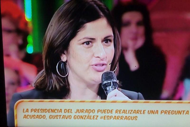 Carmen Luisa Castro, entrevistada durante el programa que acaparó casi toda la audiencia en Güímar. / DA