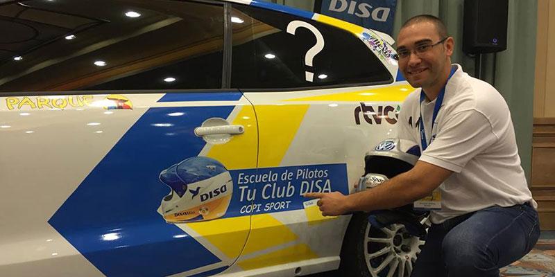Una imagen del ganador del asiento en el equipo DISA Copi Sport. / DA