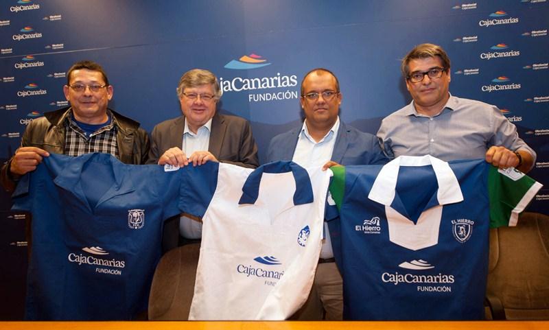 De izquierda a derecha, Jorge Pulido, Alberto Delgado, Pedro González y Juan Ramón Marcelino. / FRAN PALLERO