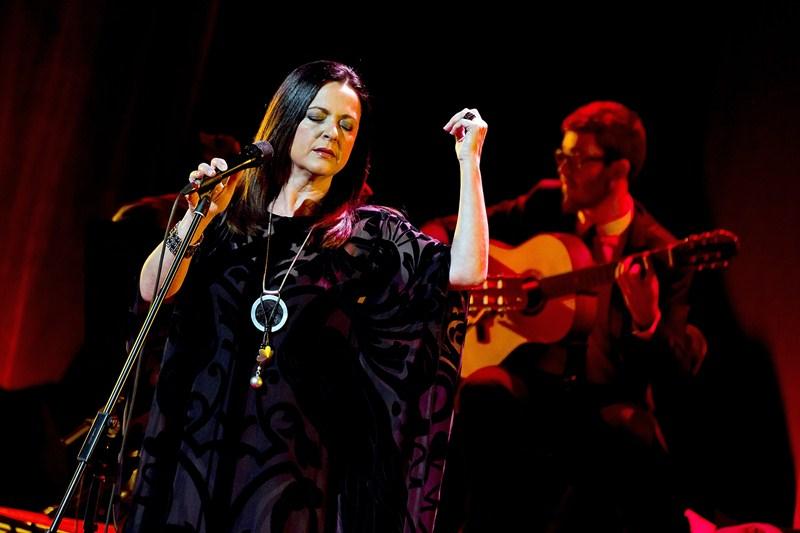Olga Cerpa, en una de sus últimas actuaciones. / DA