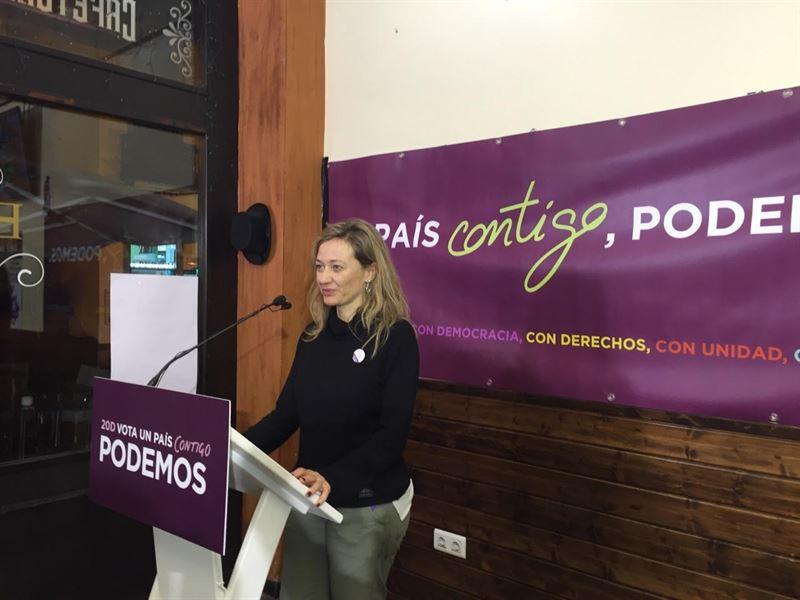 La candidata de Podemos al Congreso por la provincia de Las Palmas, Victoria Rosell. / EP