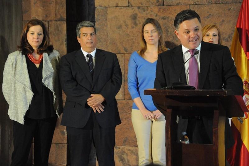 Santiago Negrín, en la toma de posesión del Consejo Rector de RTVC. / DA