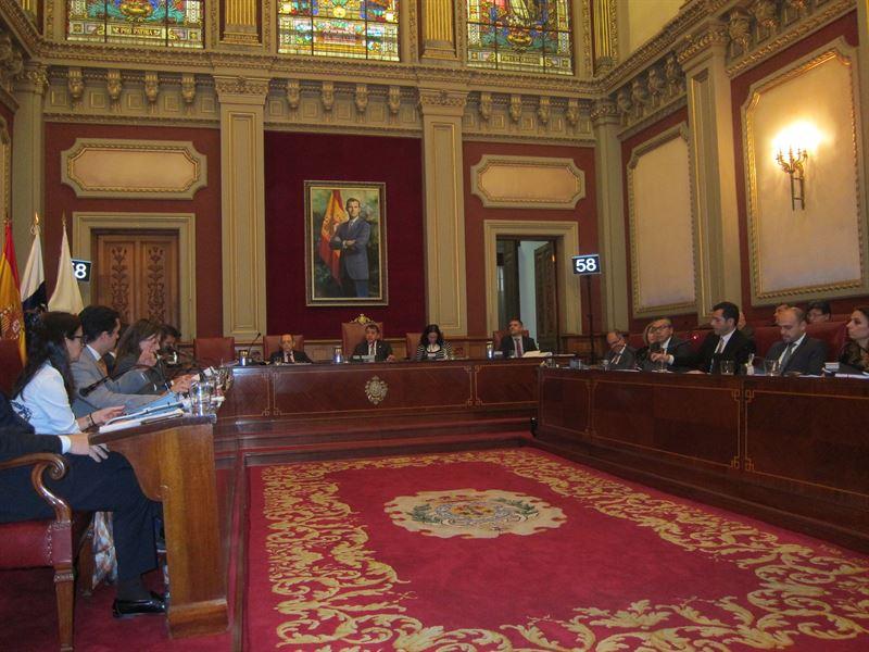 Pleno del Ayuntamiento de Santa Cruz. / EP