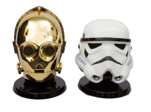 Altavoz con bluetooth: casco Stromtroopers y C-3PO: 59.90 euros.