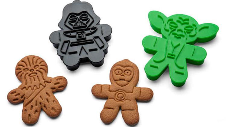 Moldes para hacer galletas con forma de los personajes de Star Wars: 14,95 euros.