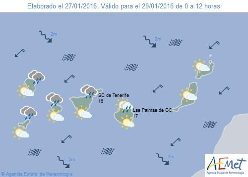 La Aemet prevé lluvias en Canarias a partir del viernes