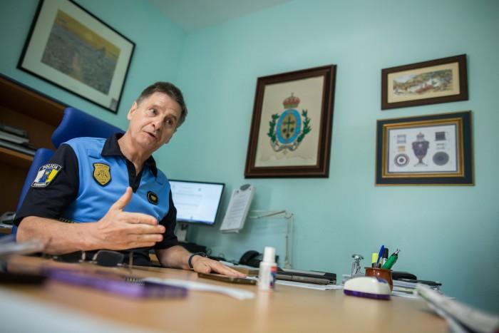 Jesús Meneses es subinspector de la Policía Local y responsable del Gramu